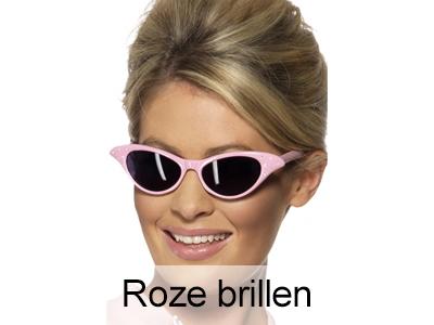 Roze Toppers verkleedbrillen