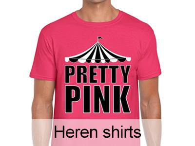 Roze Toppers shirts voor heren